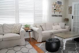 White Slipcovered Sofa Ikea Furniture Comfortable Ikea Ektorp Sofa For Your Living Room Sofas