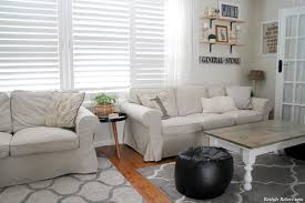 White Slipcovered Sofa by Furniture Comfortable Ikea Ektorp Sofa For Your Living Room Sofas