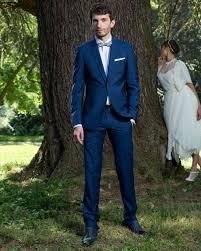 costume bleu mariage costume de mariage bleu col châle