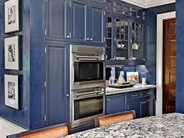 Blue Kitchen Backsplash Blue Kitchen Cabinets Dark Wood Metro Cabinets In Truffle Finish