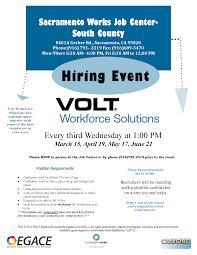 Calljobs Hiring Event Volt Workforce Solutions U2022 Sacramento Works
