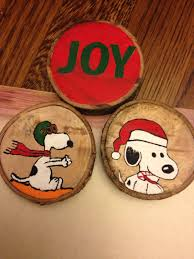painted wood slice ornaments painted wood slice