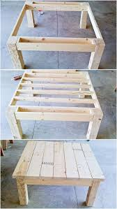Patio Table Made From Pallets by Best 25 Pallet Tables Ideas On Pinterest Pallet Table Top Wood