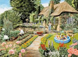 Summer Gardening - gardening trevor mitchell artist