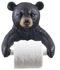 Decorative Toilet Paper Black Bear Decorative Toilet Paper Holder Rustic Toilet Paper