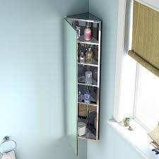 Corner Mirrored Bathroom Cabinet Ibathuk 1200 X 300 Stainless Steel Corner Bathroom Mirror