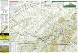 Appalachian Trail Map Virginia by Mount Rogers High Country National Geographic Trails Illustrated