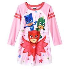 pj masks sz 6 nightgown pajamas night shirt pjs girls catboy