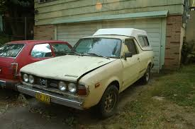 brat car old parked cars 1978 subaru brat and 1978 honda civic