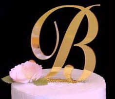 gold monogram cake toppers metallic cake topper s big day metallic