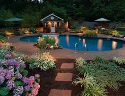 image of landscape lighting ideas around pool