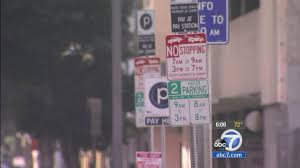 Parking Restrictions Los Angeles Map by New Parking Signs Unveiled In Downtown Los Angeles Abc7 Com