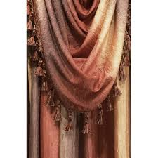 achim importing co ombre valance scarf omsf144 color aubergine ebay