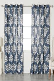 best curtains best home fashion inc navy linen blend medina grommet top