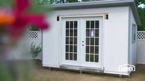 Lowes Sheds by How To Install French Doors In A Shed Youtube