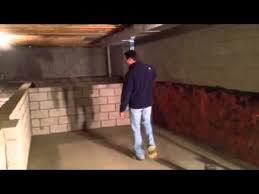 crawlspace conversion to basement youtube