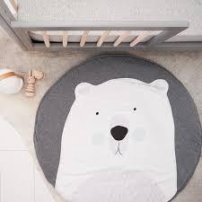 tapis ourson chambre bébé tapis de jeu bébé en tissu rembourré ours polaire