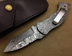titan u0027s superb hand made full damascus folding hunting pocket