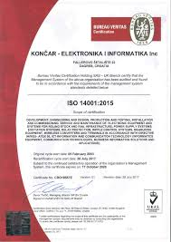 bureau veritas hr končar inem successfully completed the transition to the iso