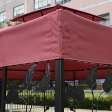 10 X 10 Awning 10 U0027 X 10 U0027 1 Tier Or 2 Tier 3 Colors Patio Canopy Top Replacement