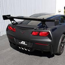 corvette wing 2014 2015 c7 corvette gtc 500 adjustable wing carbon fiber