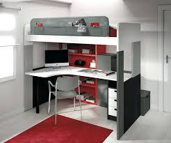 bureau en mezzanine lit mezzanine 1 place bureau integre lit mezzanine 2 places avec