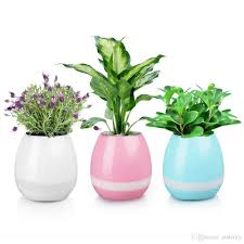 cool matetify music green plant smart bluetooth speaker music