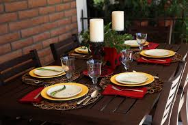 Informal Table Setting by Among The Saguaros Ladybug Picnic