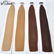 i tip hair extensions leshinehair 10 30 inch i tip hair extensions italian glue 100