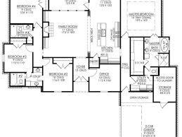 1 Story 4 Bedroom House Floor Plans 1 Story Modern House Plans House Plans