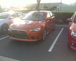 lancer mitsubishi 2009 2009 mitsubishi lancer ralliart caught in a parking lot the