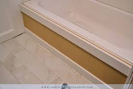 Tiling Around Bathtub Diy Tub Skirt Decorative Side Panel For A Standard Apron Side