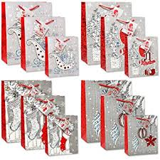 gift bags in bulk 12 merry christmas gift bags bulk 4 large 4 medium 4