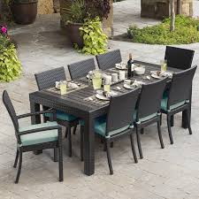 brilliant 9 piece patio dining set oakland living cascade 9 piece