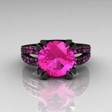black and pink engagement rings modern vintage engagement ring 14k black gold 30 carat pink