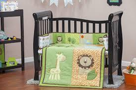 Mini Crib Bumper Pads by Dream On Me Safari Animals Portable 3 Piece Crib Bedding Set