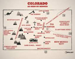 Map Of Colorado State by Colorado As Seen By Denver Map Thrillist