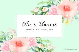 Watercolor Flowers - 3 in 1 pack watercolor flowers illustrations creative market