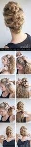 Easy Hairstyle Tutorials For Long Hair by Best 10 Easy Curly Updo Ideas On Pinterest Curly Updo Tutorial