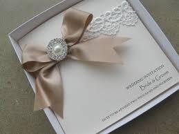 Vintage Lace Wedding Invitations Vintage Lace Wedding Invitation With Satin U0026 Pearls With Pocket