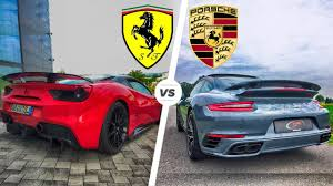 porsche 911 turbo sound porsche 911 turbo s 2017 vs 488 gtb exhaust sound