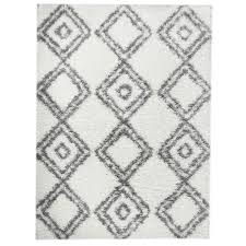 Polypropylene Area Rugs Shag Rug Shag Rug White Grey High Quality Carpet Polypropylene