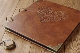 Leather Scrap Book Quality Vintage Diy Family Photo Album Fake Leather Scrapbook