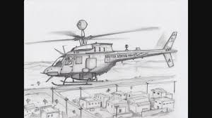 drawn helicopter pencil drawing pencil and in color drawn