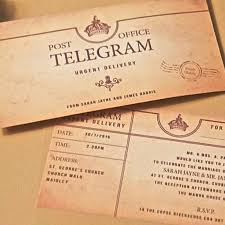 telegram wedding invitation telegram day invitation wedding invitations