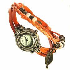 bracelet cuir montre images Montre bracelet cuir multirang quartz thalie orange terrezen jpeg