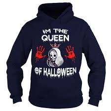 im the queen of halloween shirt hoodie sweater longsleeve v neck