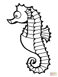 seahorse fish coloring free printable coloring pages