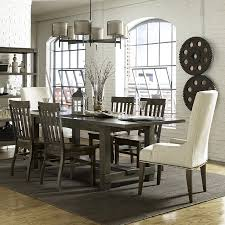 abington wood dining table in weathered charcoal magnussen home