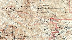 Montana Topographic Map by Rocky Mountain National Park 1915 Usgs Topographical Map U2014 Purple